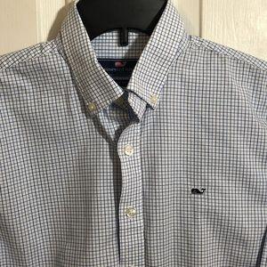 Vineyard Vines Boys Long Sleeve Button Whale Shirt